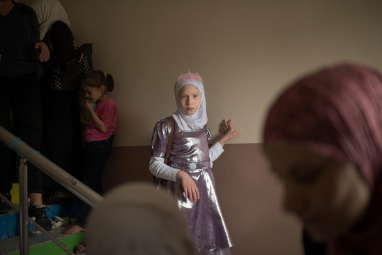 """Sham, 12, is leaving the Unicefs """"girls safe center"""" in Sanliurfa, Turkey, April 24, 2016. She has danced and sung freedom songs at the center, who is a safe space for Syrian girls."""