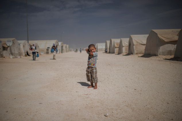 Abdo, 3, from Kobane is living in Turkeys largest refugee camp Suruc, April 25, 2016. Approximately 35 000 refugees lives here according to Unicef.