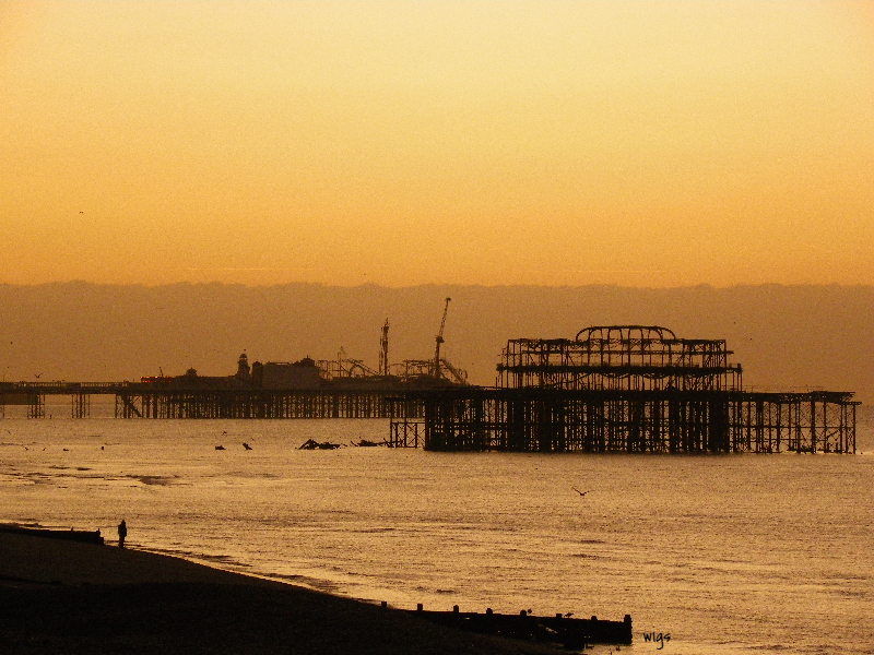 The Piers at Brighton - Sussex print comp_edited