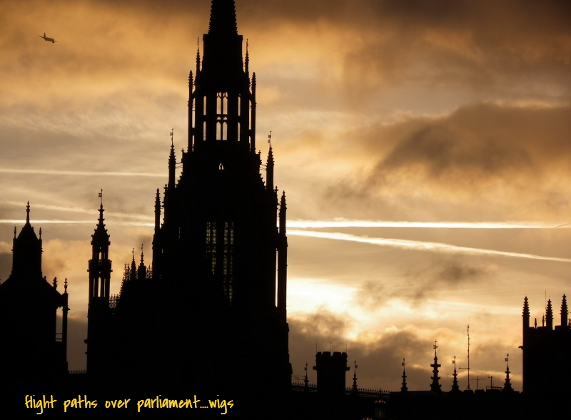 Flight Path Over Parliament