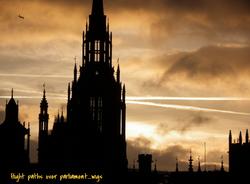 Flight Path Over Parliament