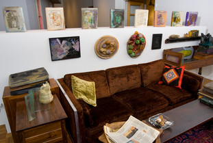 SUBLIME SPACES AND VISIONARY WORLDS: BUILT ENVIRONMENTS OF VERNACULAR ARTISTS, June 2007-January 2008; installation view of Stella Waitzkin's Lost Library. Photo courtesy of John Michael Kohler Arts Center.
