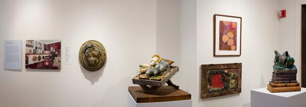 Work by Stella Waitzkin shown as part of AMERICAN MASTERPIECES at the John Michael Kohler Arts Center, 2008. Photo courtesy of John Michael Kohler Arts Center.