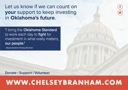 Mailer for former Rep. Chelsey Branham