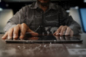 businessman hand working on laptop compu