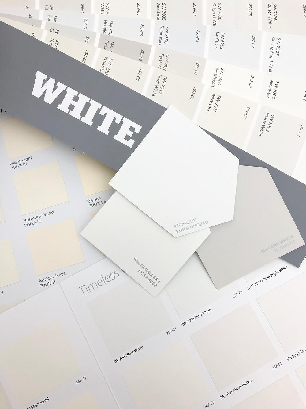 White paint samples