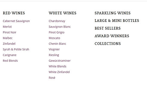 List of Windsor Wines