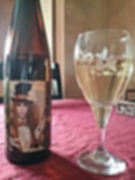 Amber White Riesling Wine