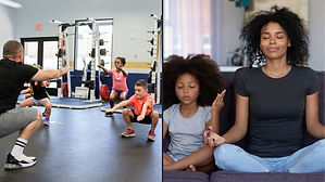Kids meditating and working out to incre