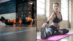 men and women functional fitness workout