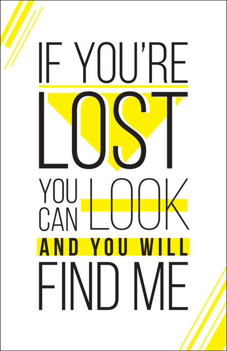 80s Lyric Poster