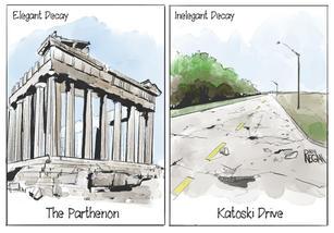 Inelegant Decay