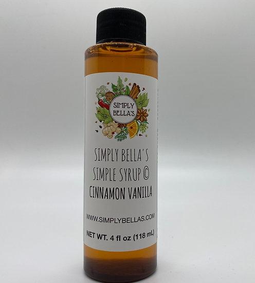 MINI Cinnamon Vanilla Simple Syrup