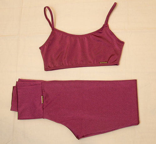 CONJUNTO CEREJA LEGGING + TOP