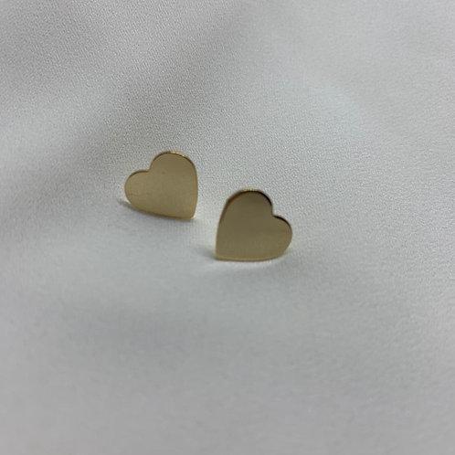 Brinco Mini Coração Chapado
