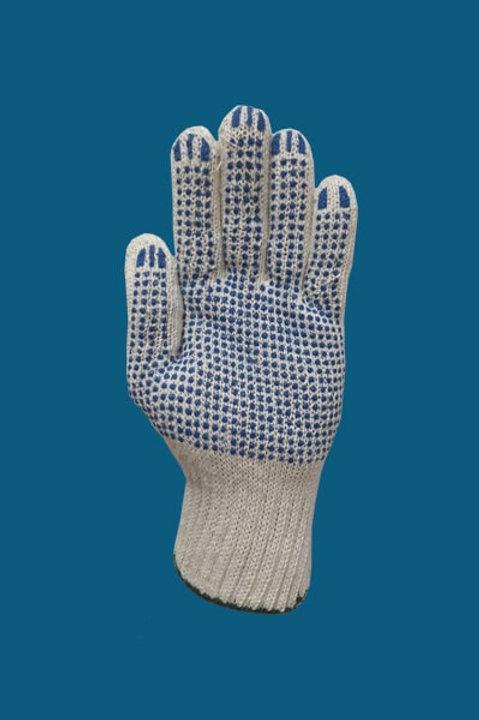 Перчатки ПВХ точка цвет белый 7.5 класс 6-нитка