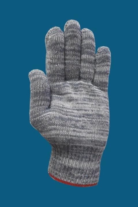 Перчатки без ПВХ цвет графит 10 класс 5-нитка серия «Лайт»