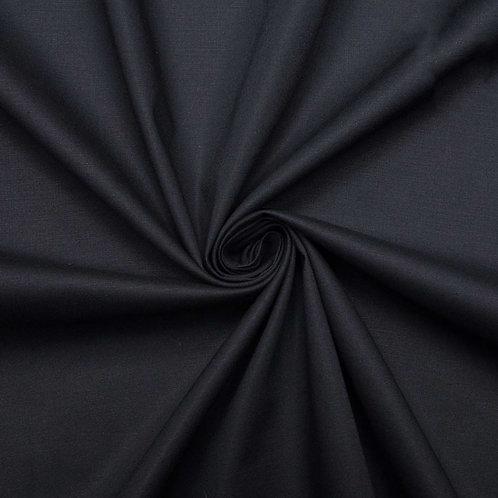 Поплин гладкокрашеный 220 см 115 гр/м2 цвет черный
