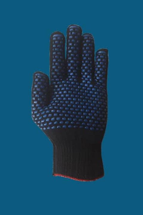 Перчатки ПВХ кирпич цвет черный 10 класс 5-нитка