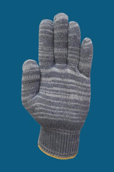 Перчатки без ПВХ цвет серый 10 класс 7-нитка