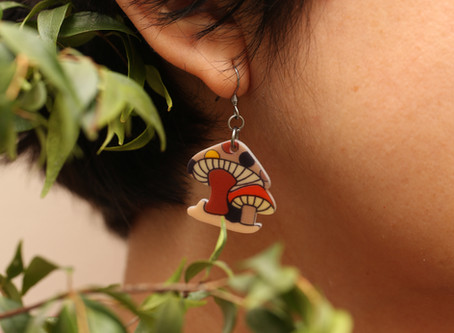 CUTE MUSHROOM EARRINGS