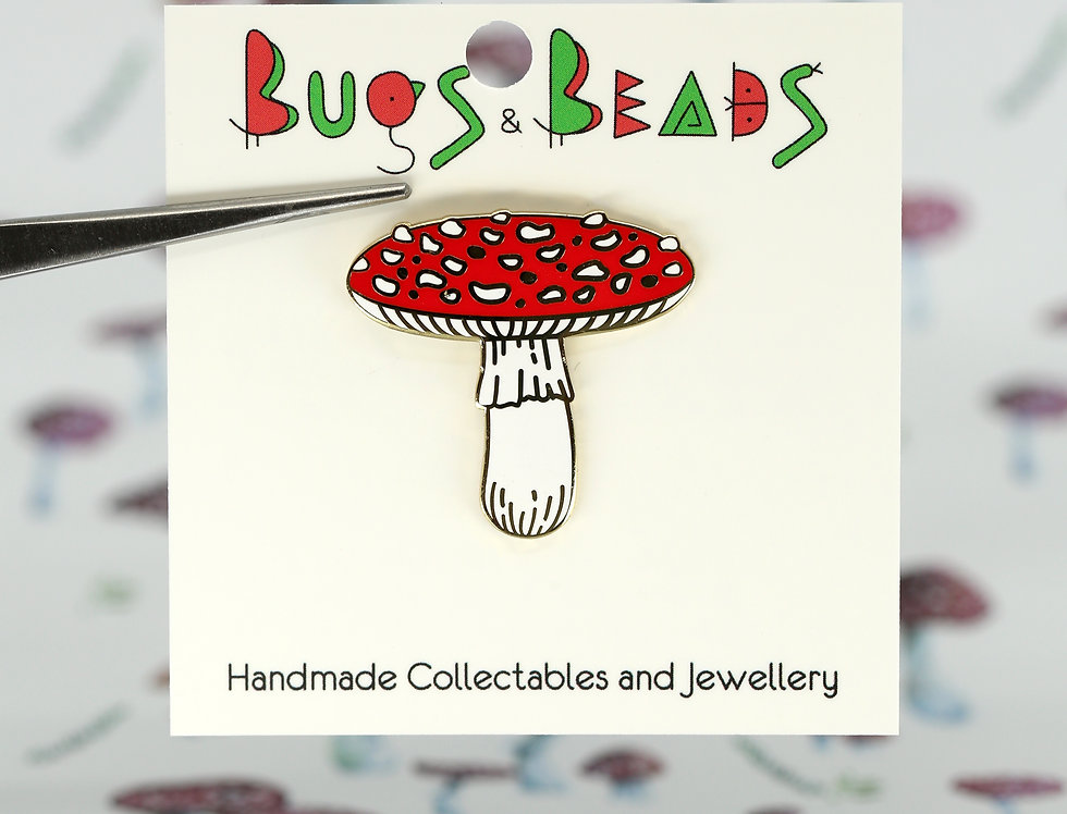 Fly Agaric pin