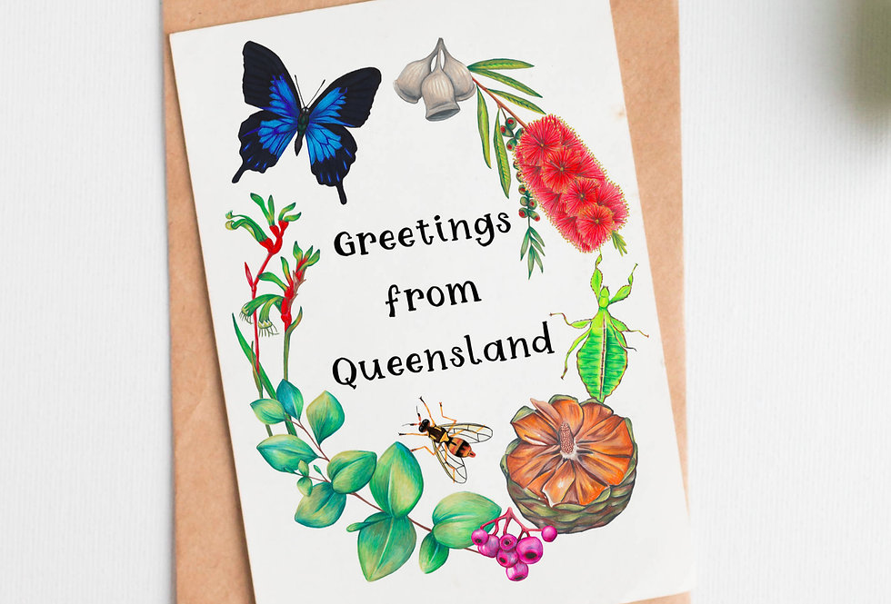 Greetings from Queensland Card