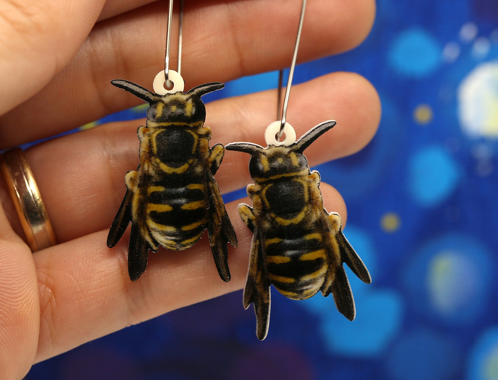 Megachilidae Bees Acrylic Earrings