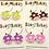 Thumbnail: Cute mushrooms earrings on loop