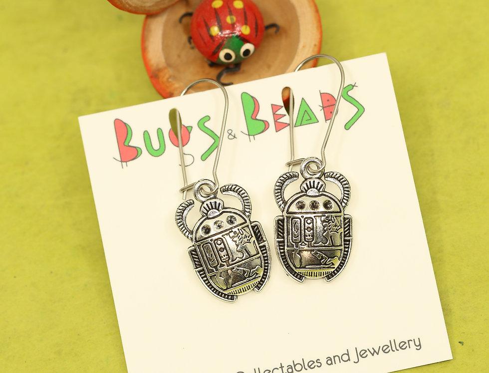 Egyptian beetle earrings