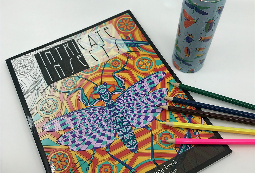 Intricate Insects: An adult colouring book by Martha Iserman