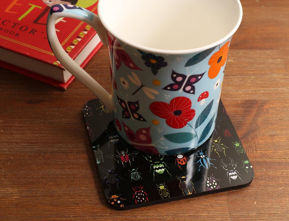 Square Beetle Coasters - Set of 4