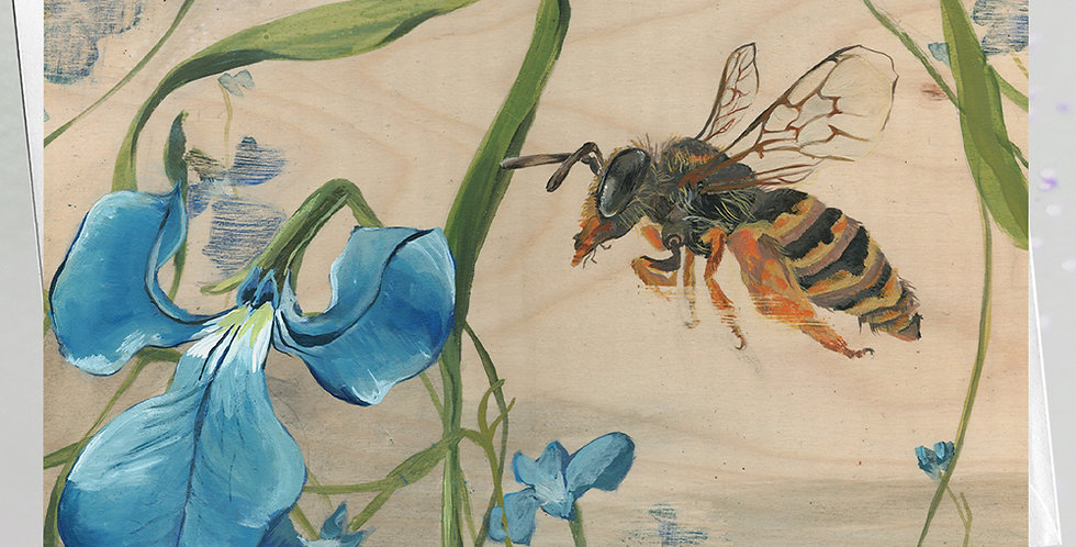 Native bee Greeting Card