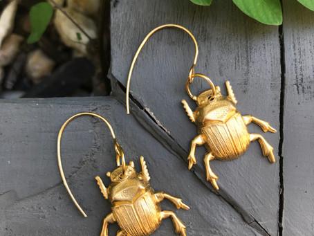 Dung beetles Earrings
