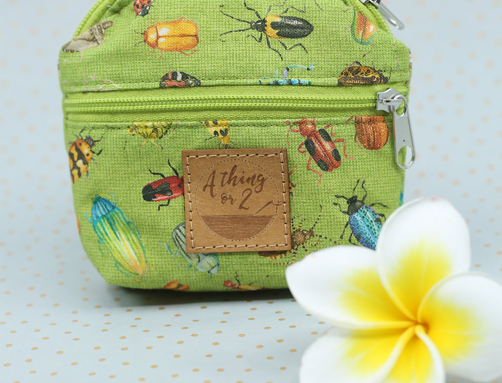 Green Insect Coin/Card mini purse