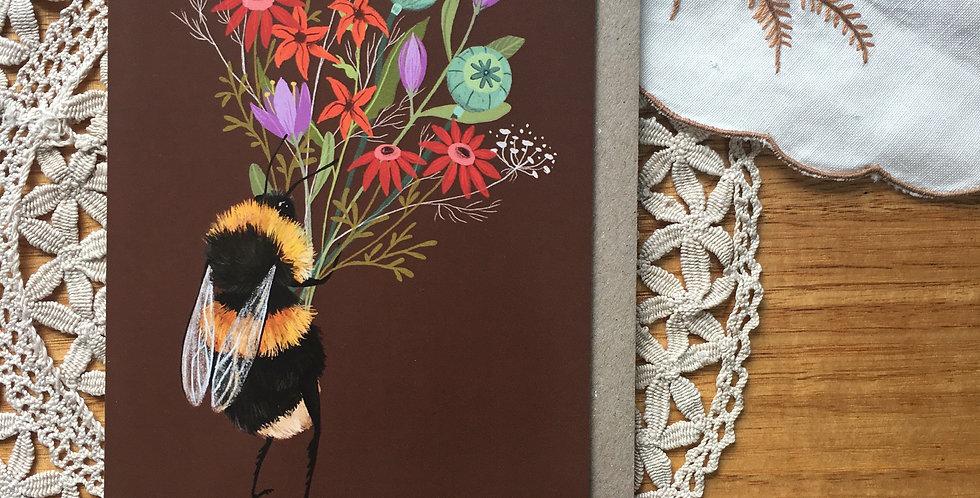 Bee Posy Greeting Card