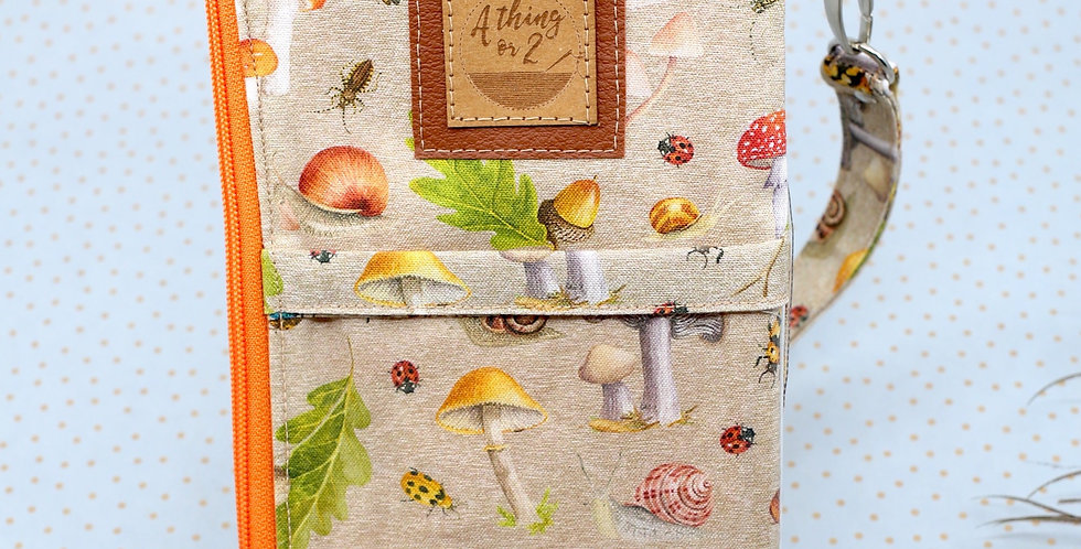 Fungi & Bugs 3-in-one phone clutch wallet