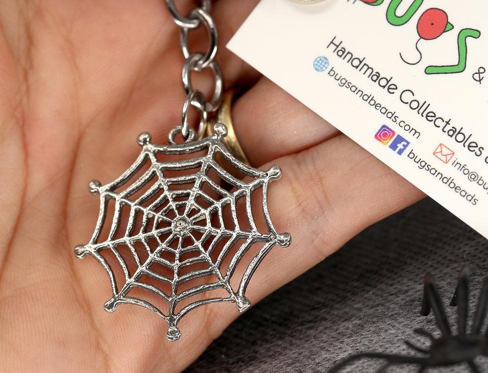 Spiderweb keyring