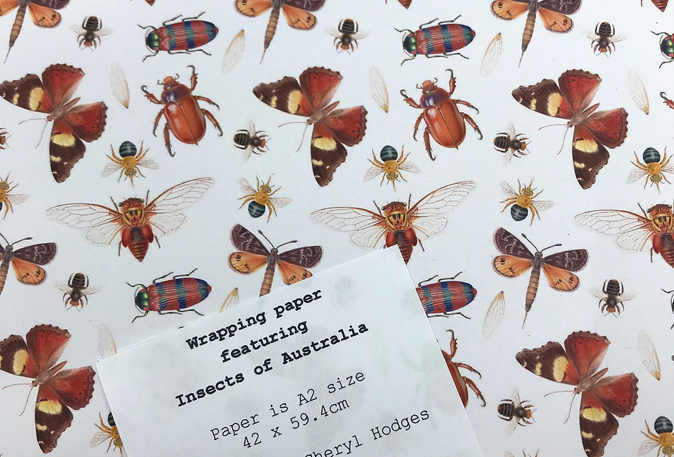 Australian Insects Wrapping Paper