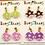 Thumbnail: Cute mushroom clip-on earrings