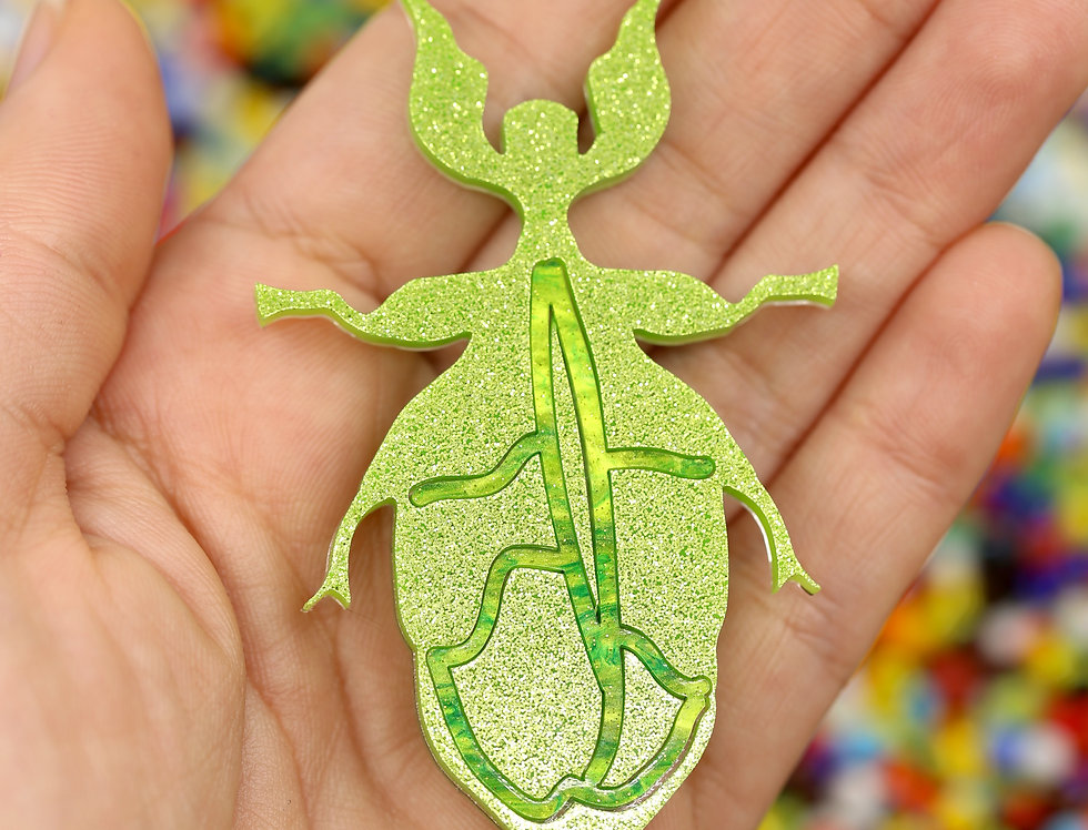 Monteith's Leaf-insect brooch