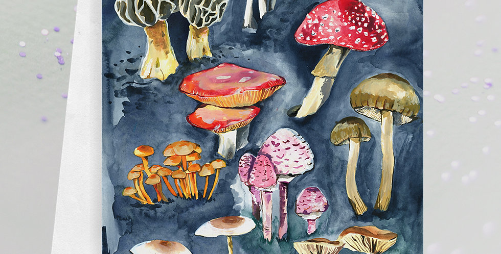 Mushroom Collection Greeting Card