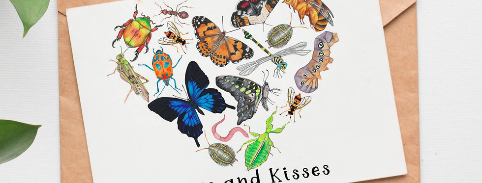 Bugs and Kisses Greetings Card