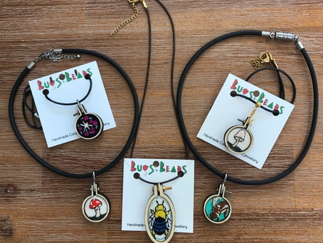 New Embroidered Pendants