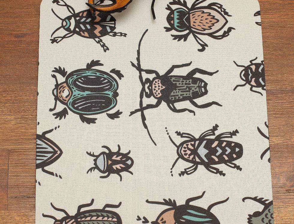 Beetles Mouse Pad - White