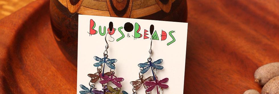 Mixed Dragonflies dangle earrings
