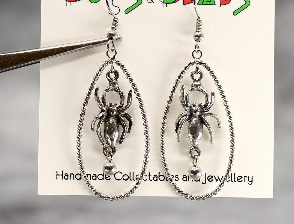 Spider & egg sac earrings