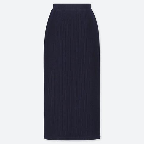 UQ リブタイトロングスカート(丈標準76~80cm)ネイビー.jpg