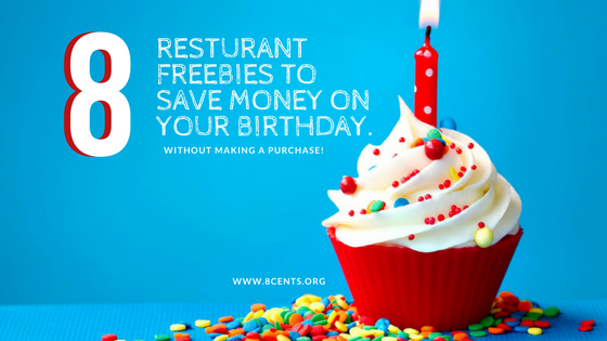 Free Birthday Restaurants ~ Restaurant freebies to save money on your birthday cents in