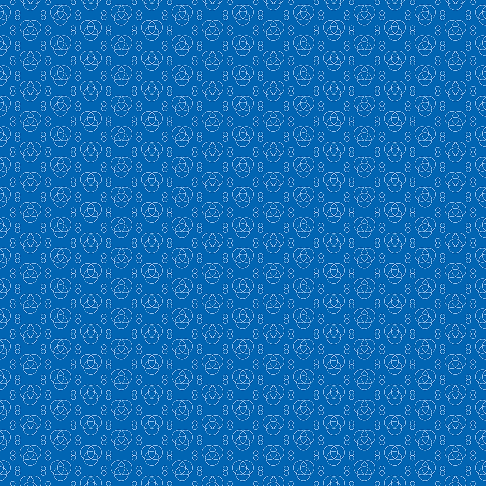 8 Cents Circle Background - Blue Dark Sq
